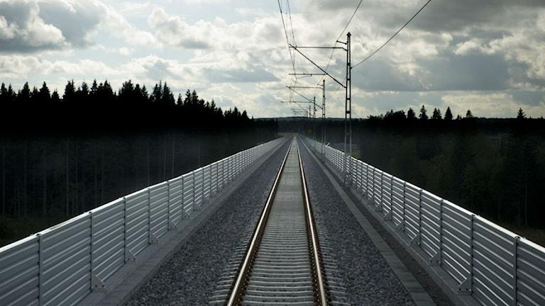 Inga tåg inom sikte på Botniabanan. Foto: Henrik Montgomery / Scanpix