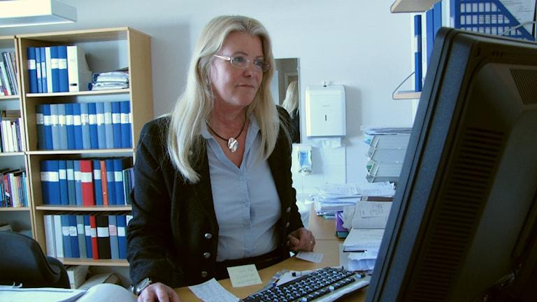Kristina Mårtensson, chef för psykiatrin, Landstinget Västernorrland. Foto: Annelie Ledin/SR