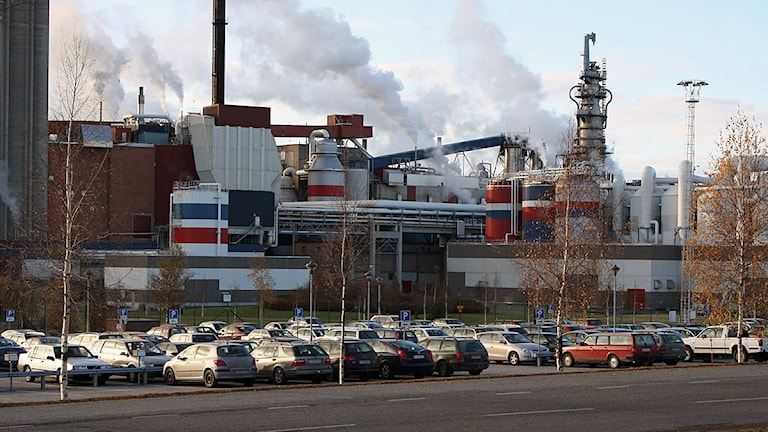 M-reals fabrik i Husum i Örnsköldsvik. Foto: Anna Ahlström