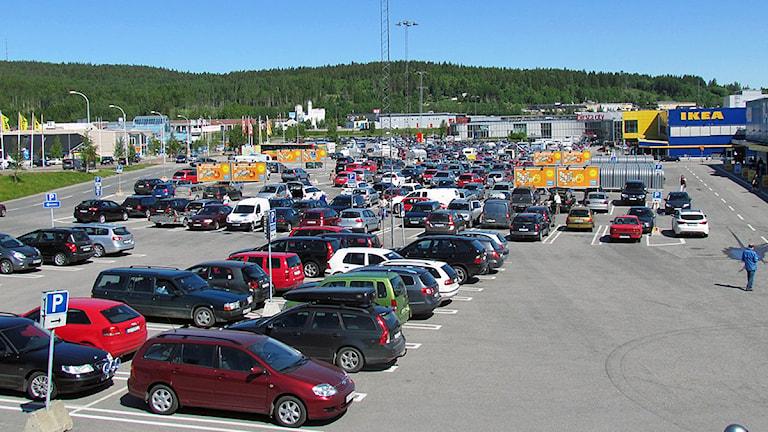 Parkering i Birsta i Sundsvall. Foto: Ulf Thonman