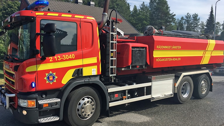En brandbil från räddningstjänsten i Höga Kusten-Ådalen