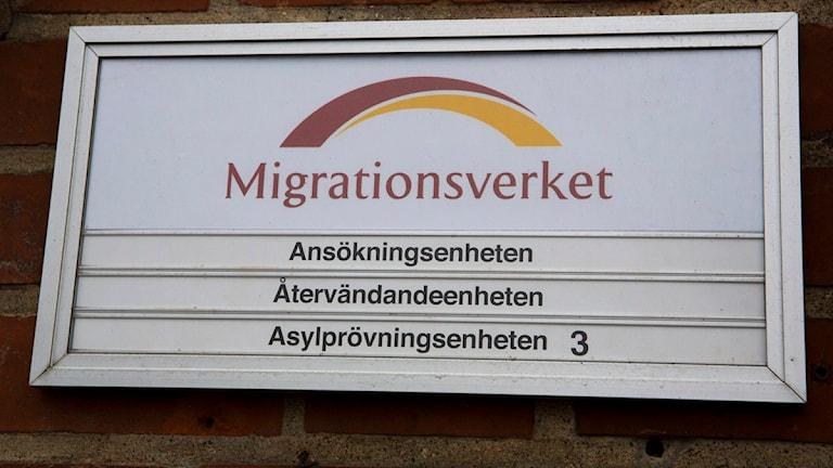 skylt på migrationsverket