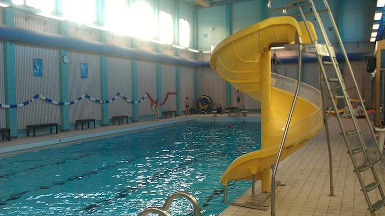 Simbassängen i badhuset i Björna.