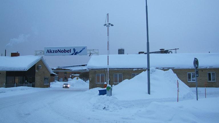 Akzo Nobels byggnader i Stockvik i Sundsvall