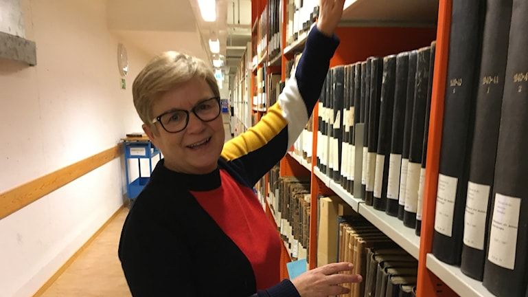 Anna Andersson arkivchef på Föreningsarkivet