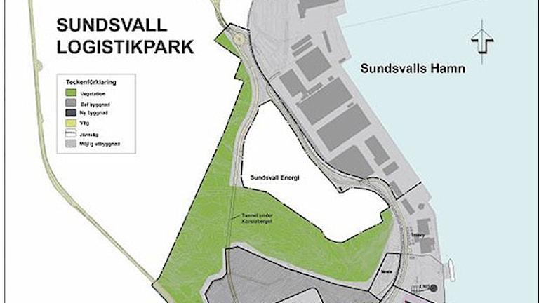 Logistikparken. Illustration: Sundsvalls Logistikpark