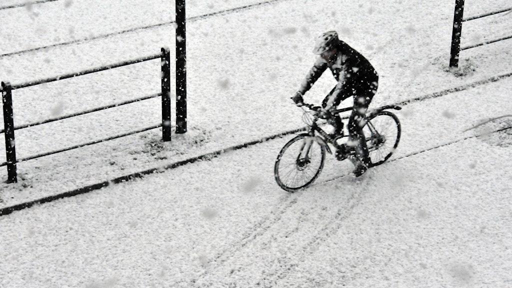 SMHI varnar för kraftigt snöfall i Västernorrland