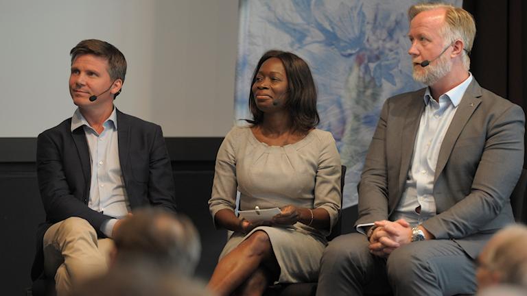 Johan Pehrson, Nyamko Sabuni och Erik Ullenhag, partiledarkandidater Liberalerna