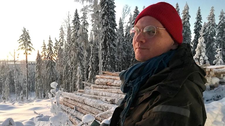 Christian Godin från Sundsvall är aktiv i rörelsen ideell skogsinventering.