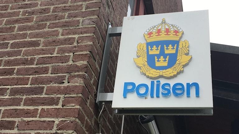 Genre polis, polsstation skylt, polisen
