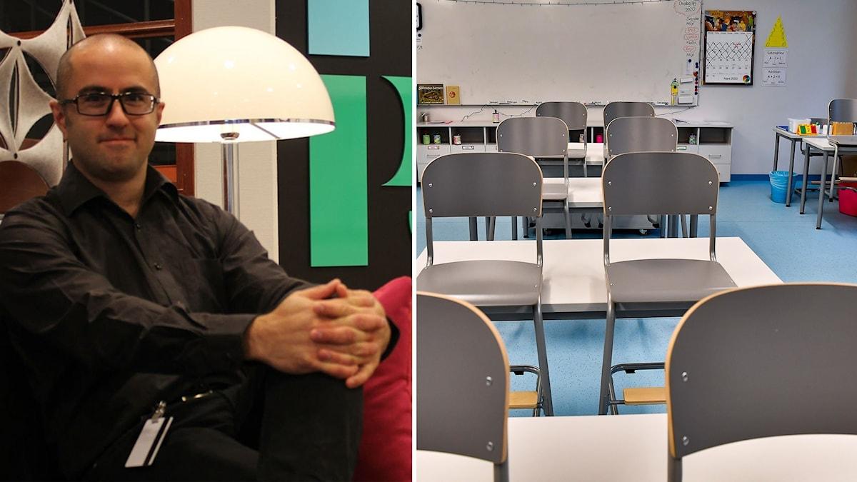 Peyman Vahedi, rektor på Ådalskolan