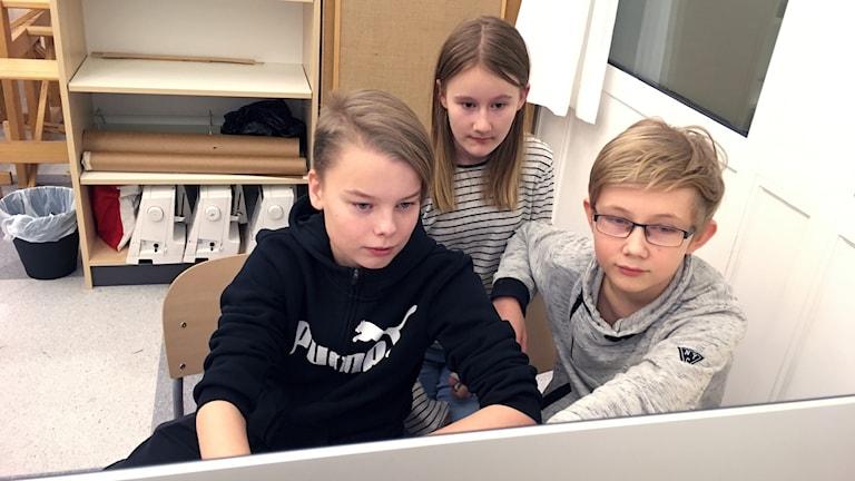 Kulturskolan Timrå, Alvin Nyström, Axel Molinder och Nora Ljusberg.
