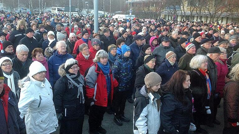 Demonstration för Sollefteå sjukhus. Foto: Ulla Öhman