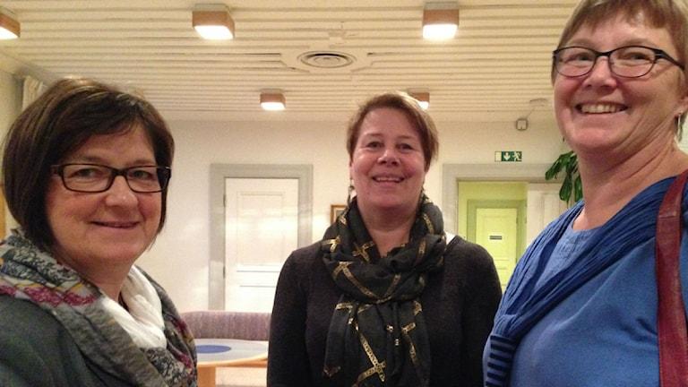 Tris(S) i damer; Elisabet Strömqvist, Linnea Stenklyft och Ewa Back. Foto Ulla Öhman
