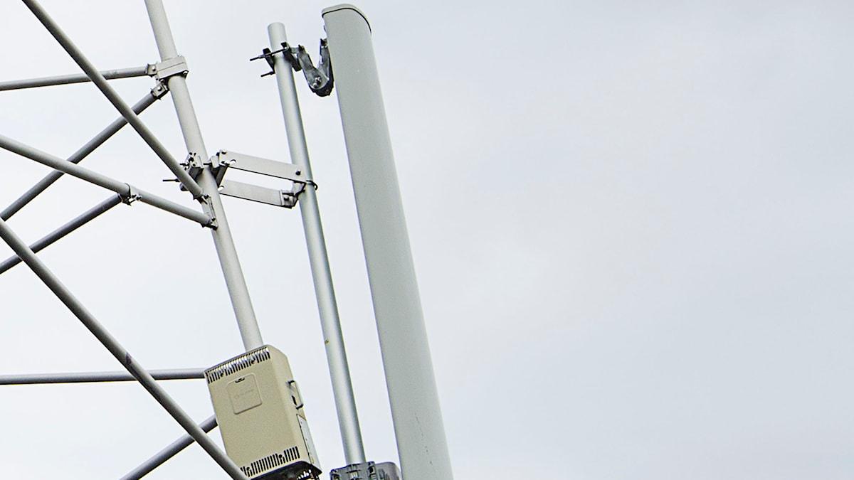 Tele2 basstation för mobiltelefon. Foto: Tele2