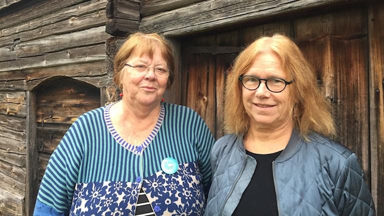 Lena Landin och Margareta Bergwall på länsmuseet i Härnösand