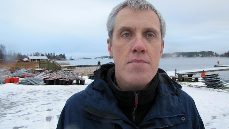 Torbjörn Westman, beredskapshandläggare på länsstyrelsen Västernorrland. Foto: Lotte Nord/SR