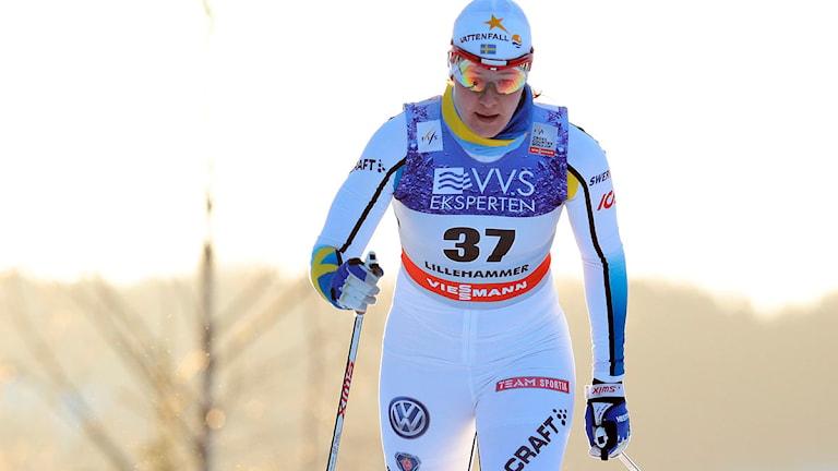 Britta Johansson Norgren. Världscupen Lillehammer 2013. Foto: Håkon Mosvold Larsen/NTB scanpix/TT