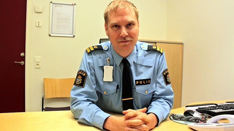 Josef Wiklund, chef för brottsförebyggande och ungdomsenheten hos polisen i Västerrnorrland
