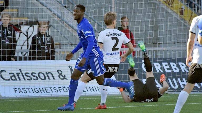 Sundsvalls Peter Wilson gjorde första målet mellan Örebro SK och GIF Sundsvall