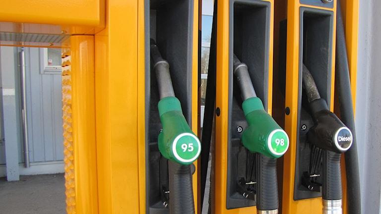 Bensinpump Preem 95 oktan och diesel. Foto: AC Carlsson/SR