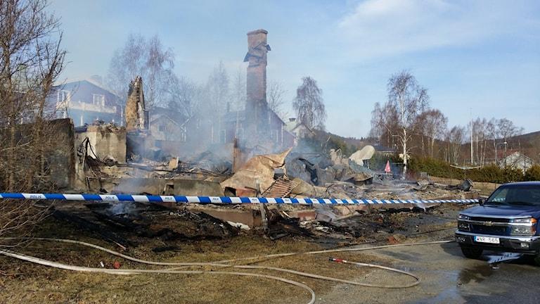 Brand flerfamiljshus i Nyland
