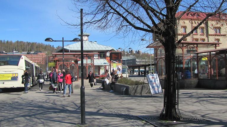 Navet, bussstation, Sundsvall, buss