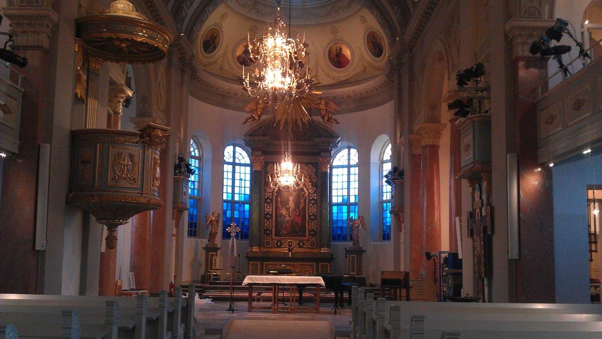Interiör i domkyrkan i Härnösand. Foto: Ulla Öhman/SR