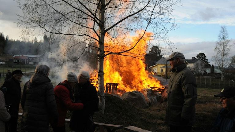 Majbrasa, Valborgsmässoafton. Foto: Ingrid Engstedt Edfast