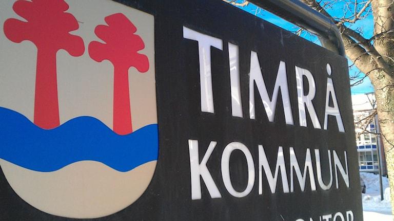 Skylt Timrå kommun