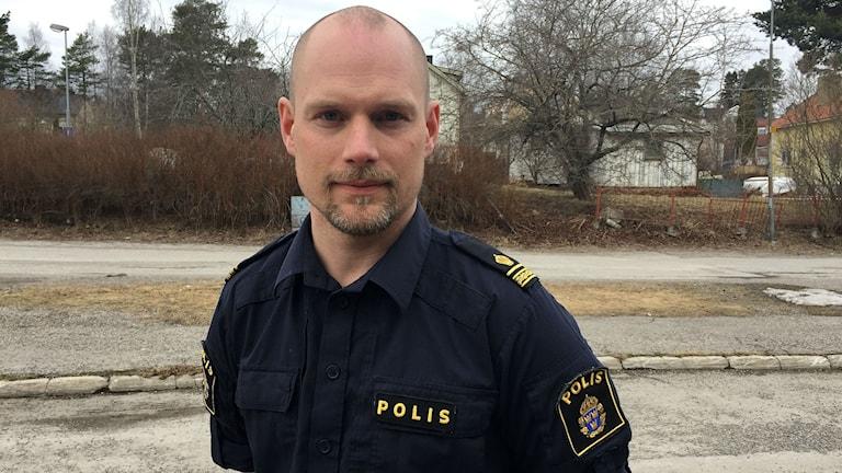 Andreas Zehlander, chef för polisens ungdomsgrupp i Medelpad. Foto: Billy Abraha