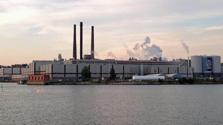Ortvikens fabrik i Sundsvall. Foto: Karin Lycke / Sveriges Radio