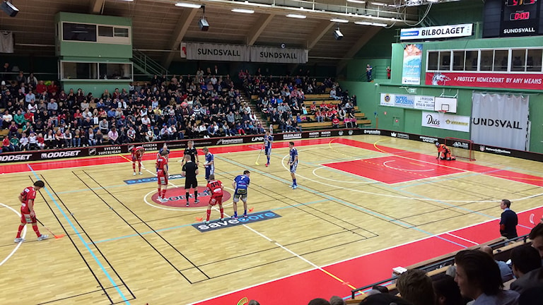 Granlo BK mötte Växjö Vipers i Sporthallen i mars 2014. Foto: Christer Jonasson/SR
