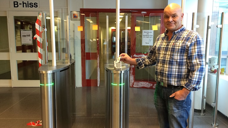 Gunnar Åberg, säkerhetschef Sundsvalls kommun. Foto: Annelie Ledin/SR