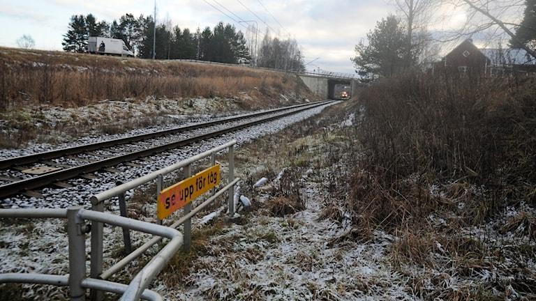 Järnvägsövergång vid Kvissleby.
