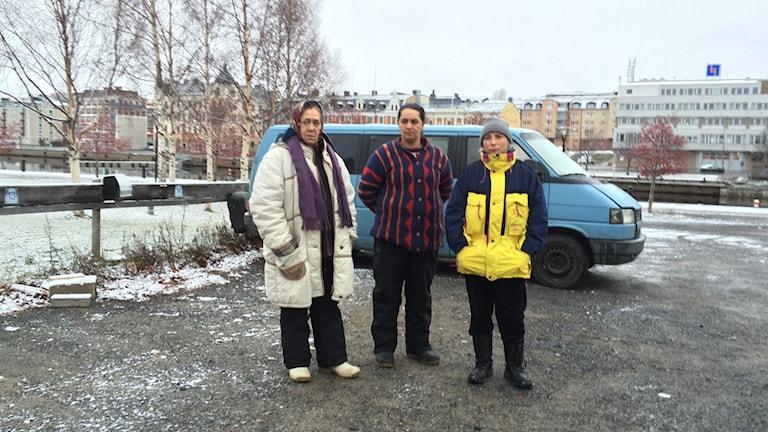 Polisen har anhållit fel person -Det var vi som blev attackerade hävdar de romer som tiggt i Härnnösand i två månader. Foto Ulla Öhman