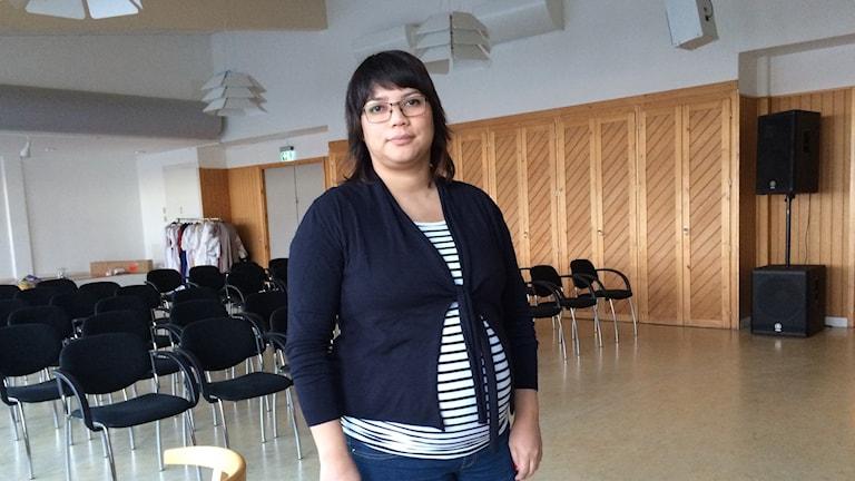 Soledad Henriquez (KD) säger att många blivande mammor är oroliga över sina förlossningar i vinter. Hennes egen är planerad till januari. Foto Ulla Öhman