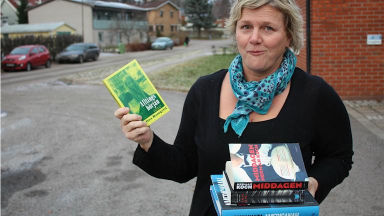 Lena Sjödin Roman med böcker