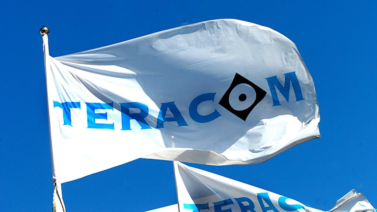 Teracom-flagga. Foto: Ingvar Karmhed/SvD/TT