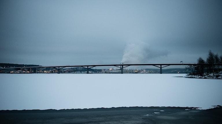 Bron över Sundsvallsfjärden. Foto: Thea Holmqvist/SR