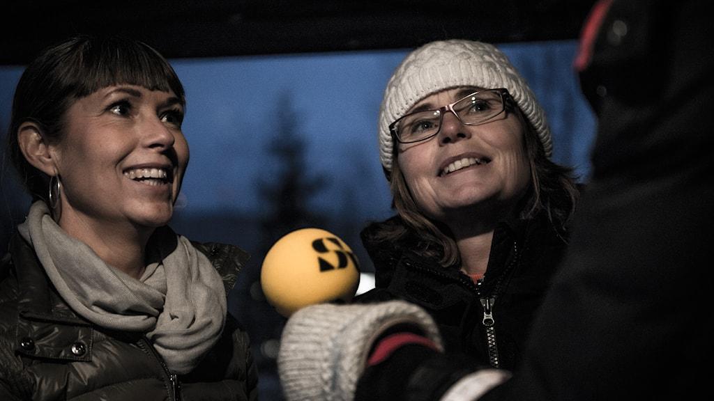 Anna-Karin Lund och Eva Harström från Sveriges Television