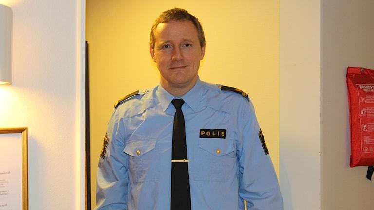 Mikael Ahrtzing, informationsenheten på polisen i Västernorrland. FOTO: Linnea Kibe/Sveriges Radio