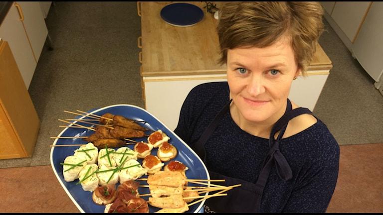 Sara Hugg lagar nyårsmat