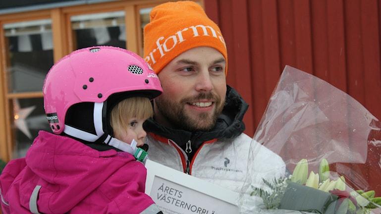 Årets västernorrlänning 2014 är Mikael Lindnord från Örnsköldsvik. Foto: Viktor Åsberg/Sveriges Radio.