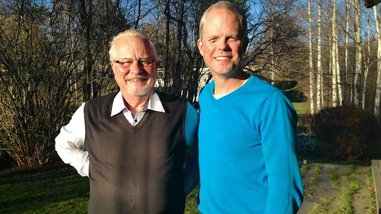 Tord Sundquist och Patrik Eriksson är druider i Ånge Foto: Lotte Nord/SR