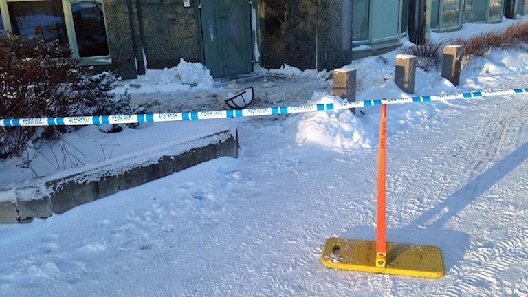 Vägg har rasat i Sundsvall.