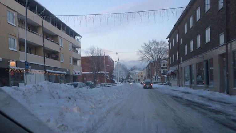 På julaftonsmorgonen såg det ut så här i centrala Härnösand. Foto Ulla Öhman