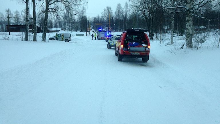 Tre döda i tågolycka i Trehörningsjö