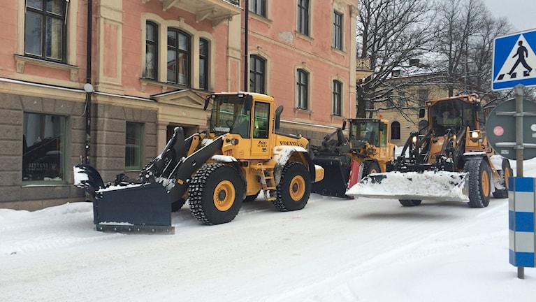 Snösvängen har jobbat hårt den senaste tiden. Foto Ulla Öhman
