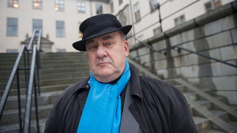Förre åklagaren Christer van der Kwast aktuell med boken 'Bortom rimligt tvivel - Thomas Quick och rättvisan', här fotograferad utanför Svea hovrätt i Stockholm. Foto: Fredrik Sandberg/TT